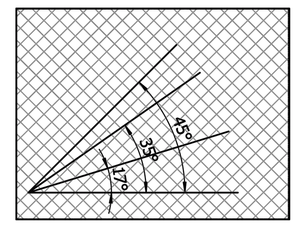 A drawing shows the custom angle of emi shielding mesh