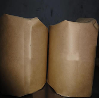 Two rolls of dutch weave woven wire meshes are packed by the waterproof brown paper.