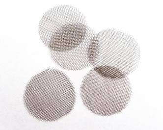 Five pieces of stainless steel tobacco pipe filter discs on the white background.  sc 1 st  Woven Wire Mesh & Tobacco Pipe Filters Protect Pipe and Health of Smokers